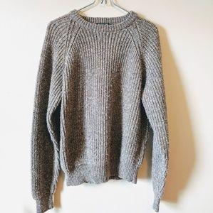 Lord & Taylor | Grey Wool Crew Sweater